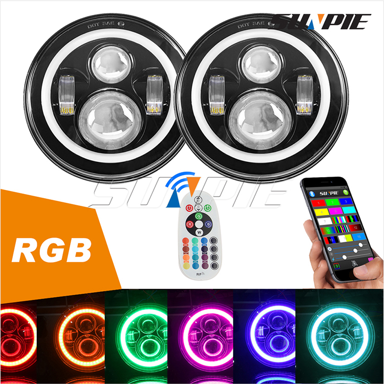 (002)7'' RGB High/Low Beam Headlight